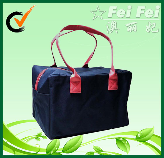 420D polyester +PU handles shoulder bags or handbags for ladies