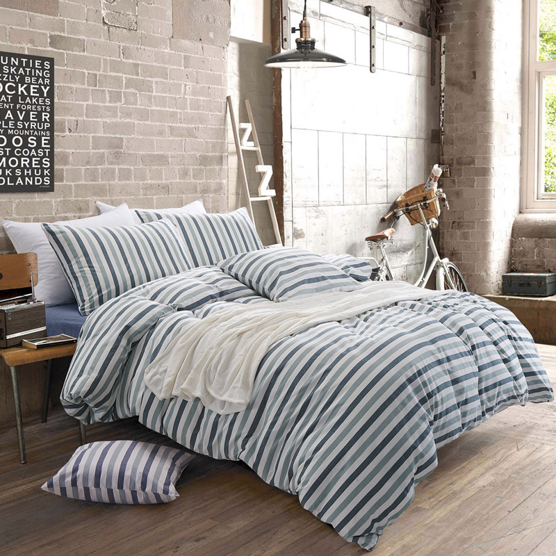 Cotton yarn dyed strip design character beach style summer bedding