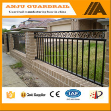 8-10 feet height Black aluminum fence panels,wrought iron balck fence,pool fencing desin