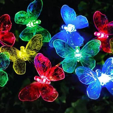 Hot Sale Colorful Lawn Dector Solar String Lights With Butterfly