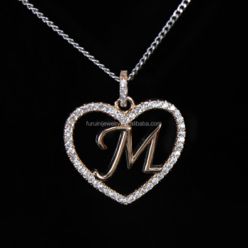 Beautiful design 925 silver letter m necklaceletter initial beautiful design 925 silver letter m necklaceletter initial necklace aloadofball
