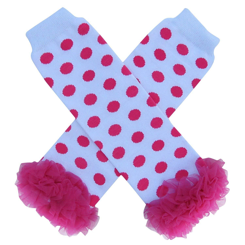 Super Solids So Sydney Baby Toddler Little Girl Chiffon Ruffle Tutu Leg Warmers