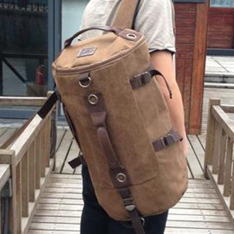 Maxwell High Quality Promotion Fashion Designer Vintage Canvas Big Size Men Travel Bags Luggage Backpacks MW