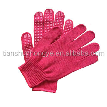 PVC doted cotton knitted firm grip hand gloves/Anti slip gloves