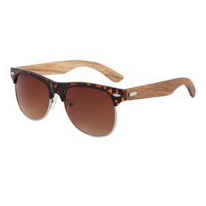 2018 wood glasses walnut wood temple mirror lens sunglasses low moq