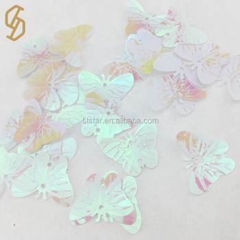 Wholesale Super Rainbow Butterfly Decoration High Quality Loose Sequins for Garment Accessories