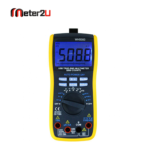 Multimeter with usb interface DCV 60m-600m-6-60-600V