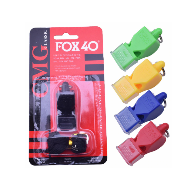 L02 Fox 40 Classic CMG Loud Pealess Official Referee professional training Soccer plastic referee emergency Classic whistle