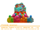 Hot Sale 24PCS Bubble Toy Train For Children