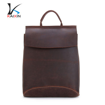 7ab87ed02a European and American fashion leather men s bags Crocodile grain backpack  trends on the second floor leather