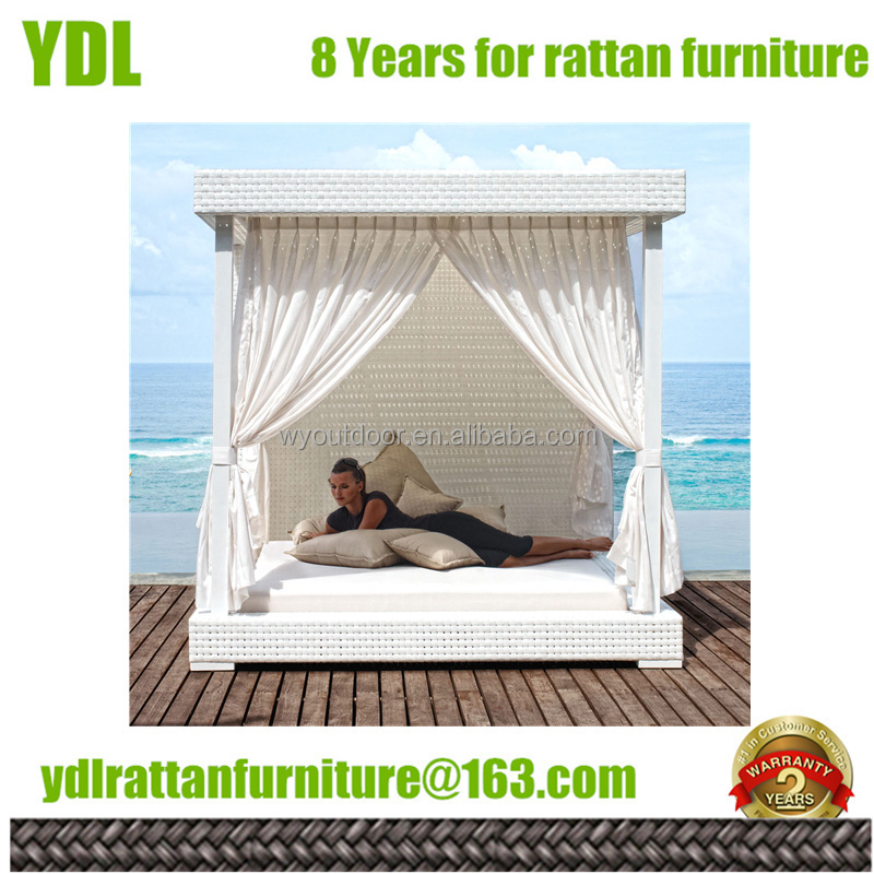 YDL Patio furniture beach beds wicker sets pool furniture outdoor big rattan bed