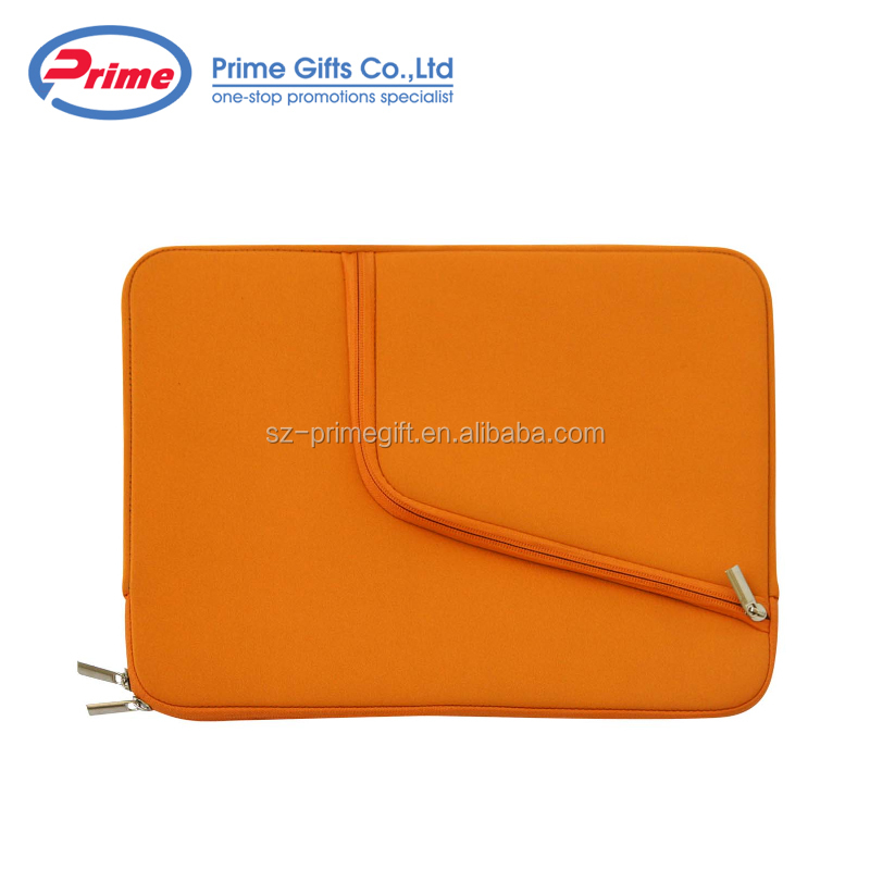 Promotional Custom Logo Neoprene Laptop Sleeve with Two Pockets