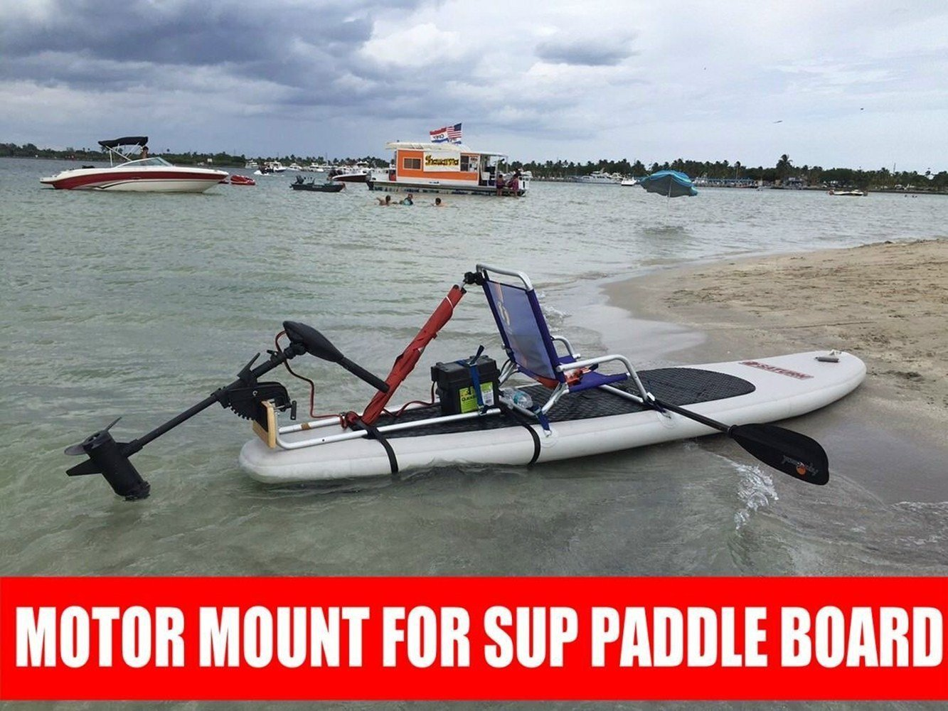 Get Quotations · Kayak Electric Trolling Motor to Stand up SUP Paddle Board - Motor Board / Kayak