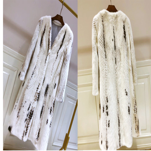 YRC157 Winter High quality Natural Genuine Mink Fur Long Coat for Women