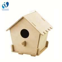 WanuoCraft Hot Sales New Self-Assembled Nature Wooden Bird House