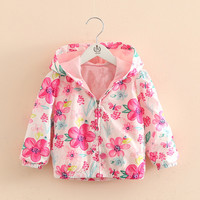 Hao Baby Girls Coat Spring And Autumn New Korean Children's Wear Children's Baby Shirt Long-Sleeved Cardigan Girl Coat