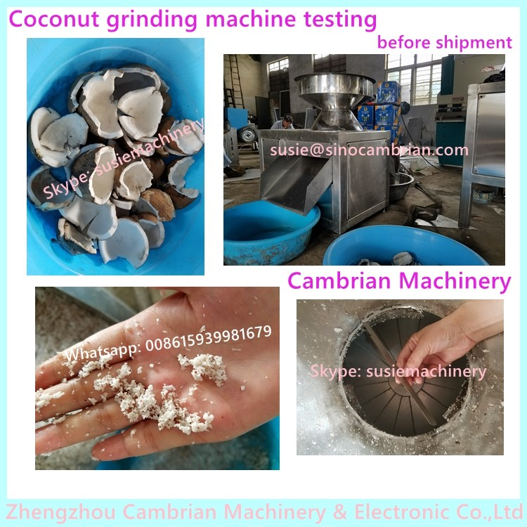 New design stainless steel desiccated coconut meat grinder and squeezer with sharp blade