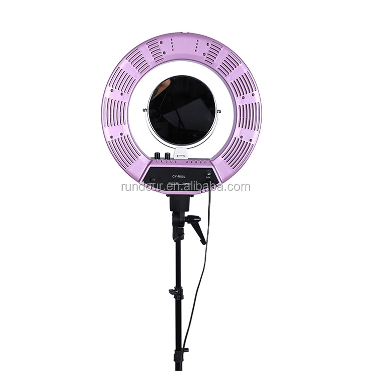 Easy to carry CY-18 photography photo studio led ring light 5500k dimmable camera ring video light lamp for makeup