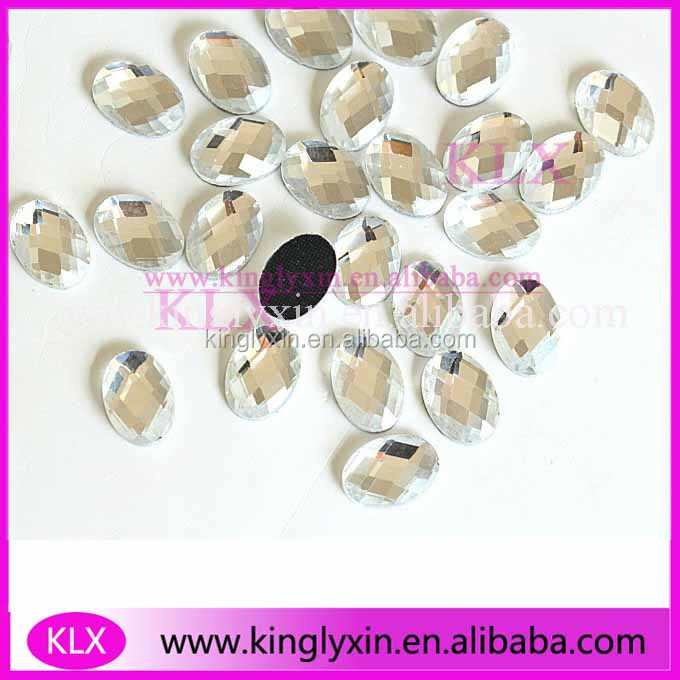 Wholesale Oval Flat back ss6/ss10/ss16/ss20/ss30/ss40 Crystal Grade Stone glue Hot fix Rhinestones