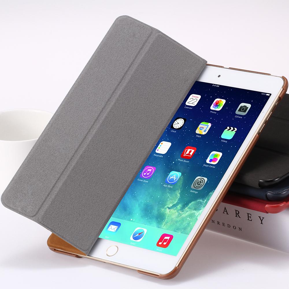 for ipad 2 3 4 smart case luxury deer leather cover for. Black Bedroom Furniture Sets. Home Design Ideas