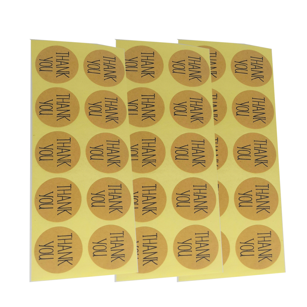 Self Adhesive Kraft Paper Label Printing Security Seal Sticker