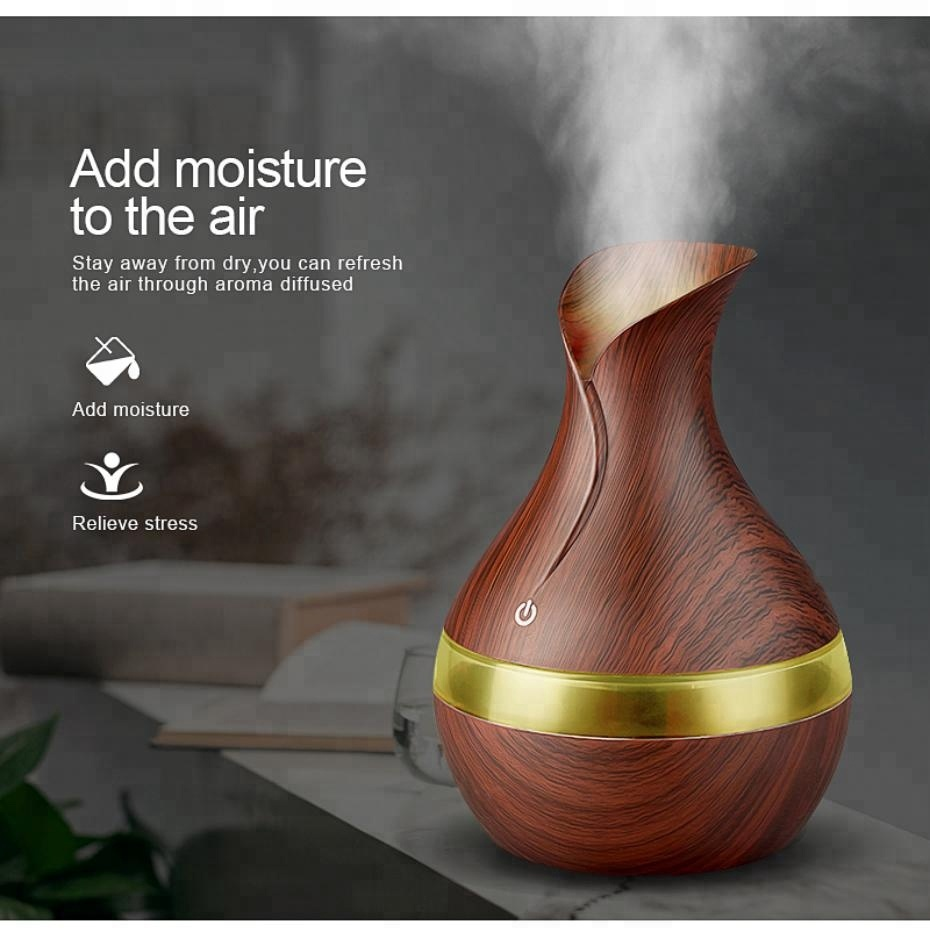 Hydroponic Essential Oil Diffuser 300ml USB Mini Ultrasonic Air Humidifier aromatherapy mist maker for home office
