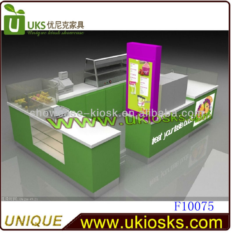 2013 Outstanding juice kiosk factory price ice cream kisok for sale from the real manufacturer