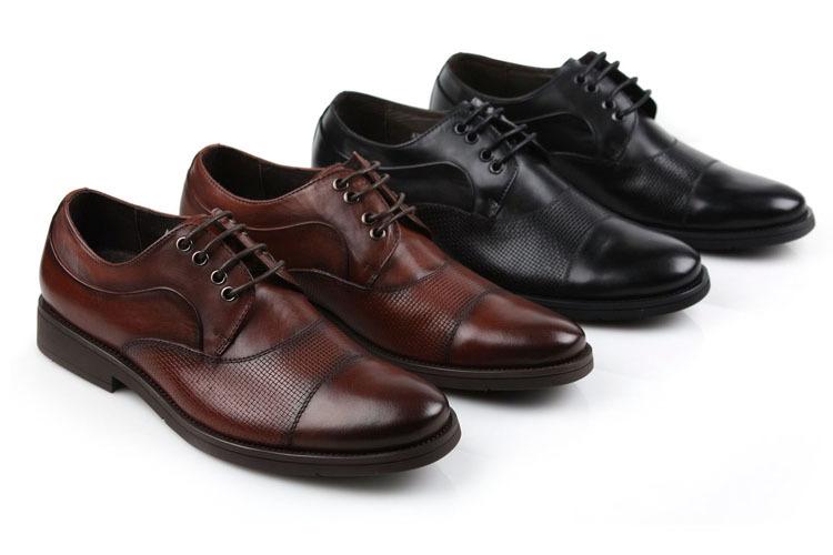 e30552cfceac Fashion reddish brown  Black mens oxfords shoes wedding shoes genuine  leather mens business shoes new mens dress shoes 2015