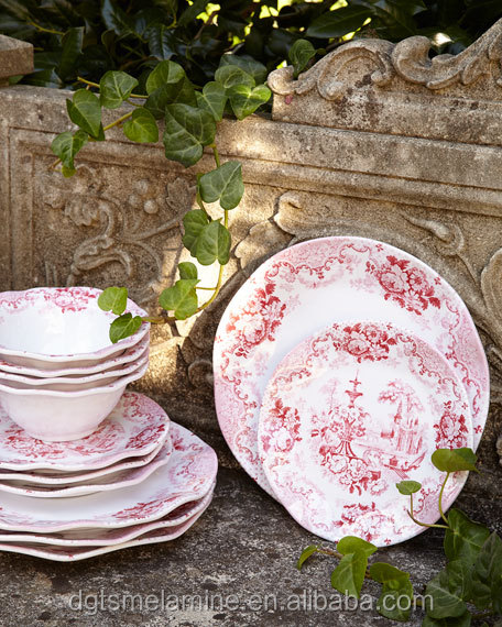 Royal Airline Doulton Minuet Christmas Melamine Tableware Dinner Set