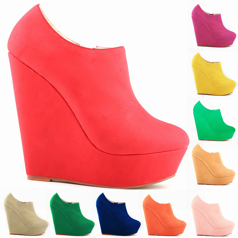 designer fashion reasonable price performance sportswear 2018 New Design Very Pop Style Ladies Red Suede Leather Wedge ...