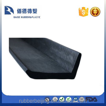 Black Rubber Round Nose Stair Tread High Traffic Protector