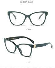 """Модные очки """"Кошка"""" прозрачные женские очки с прозрачными линзами женские очки в стиле ретро ацетатные оптические очки по рецепту NX(Китай)"""