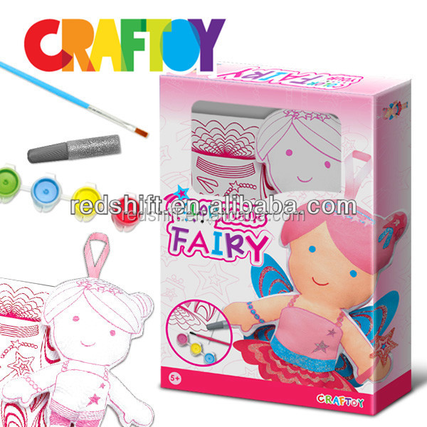 Educational toys girl craft Color your doll Fairy