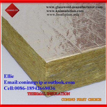 Rock wool slab sheet faced aluminum foil one side buy for Buy mineral wool insulation