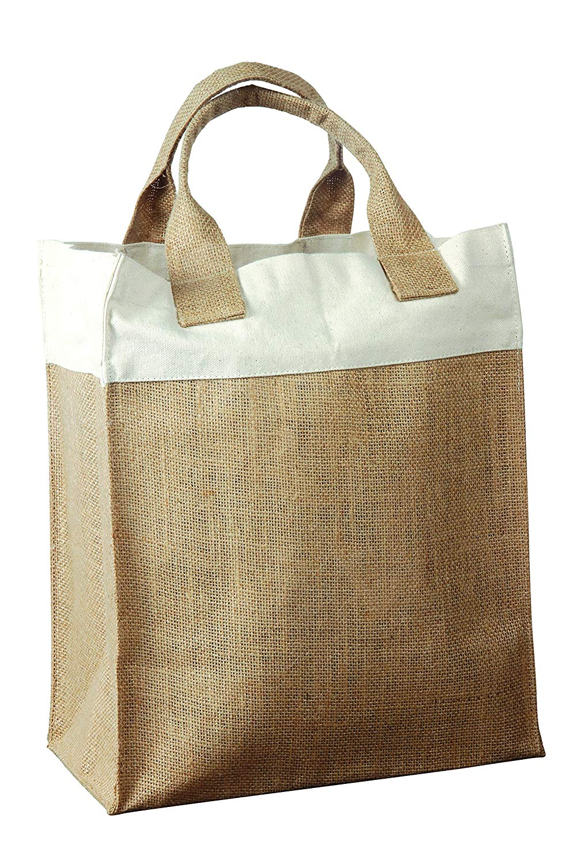 SHUGON SHOPPER BAG 100/% JUTE ECO NATURAL TOTE SHOPPING GUSSET CORD HANDLES NEW