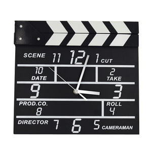 OXGIFT Wholesale Factory Price Movie clapper board wooden wall clock