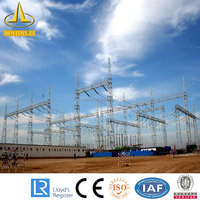 Electrical Power Compact Substation Steel Structure