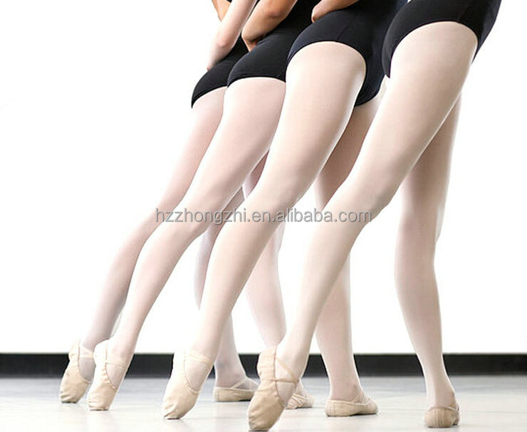 white ballet tube tights pantyhose Spandex dance ballet tights
