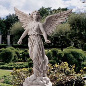 life size fiberglass angel statue for garden decoration