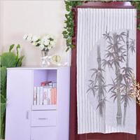 Curtains 85x170cm polyester bamboo pattern knitted door curtain