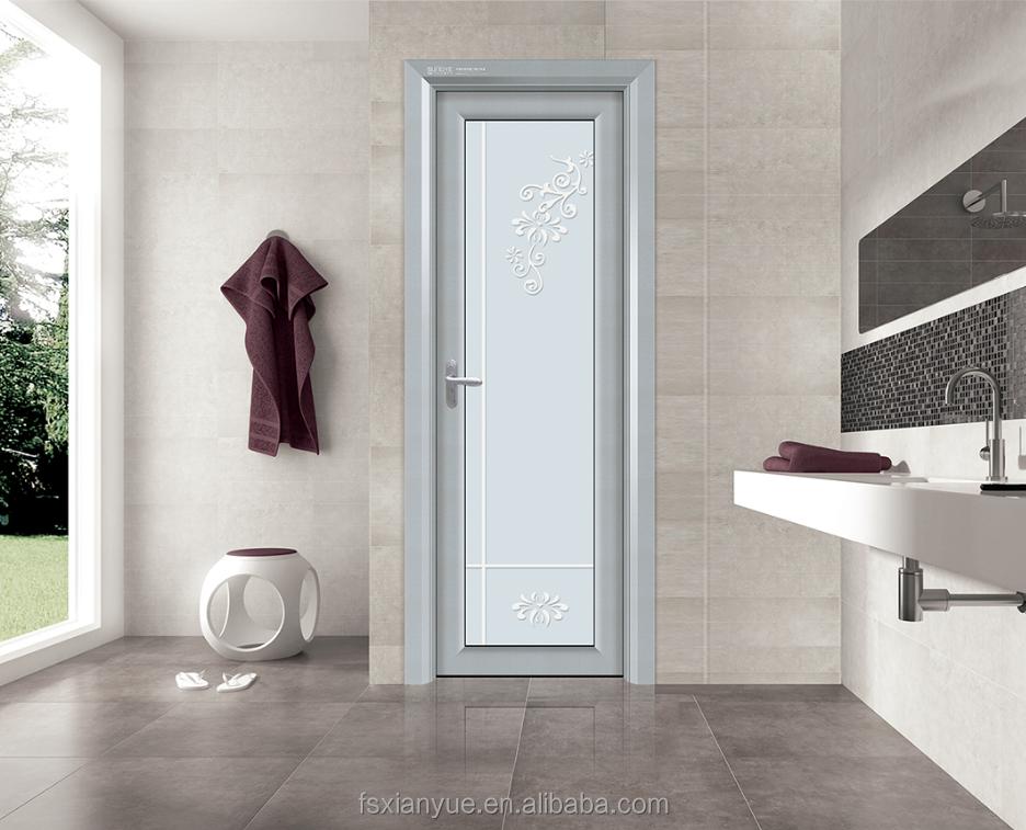 Aluminum Frame Glass Washroom Toilet Door Bathroom Door - Buy Toilet ...