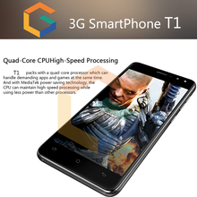 shenzhen mobile phone 8GB T1 5 inch WCDMA 3G Fingerprint cheap cell phone