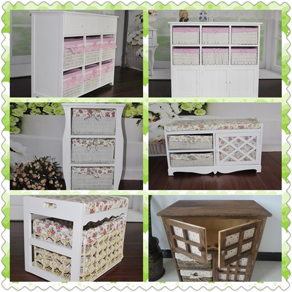 Wooden Storage Cabinet Shabby chest of drawers