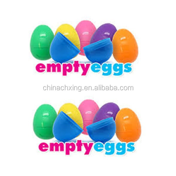 Printed Hollow Plastic Easter Eggs decoration