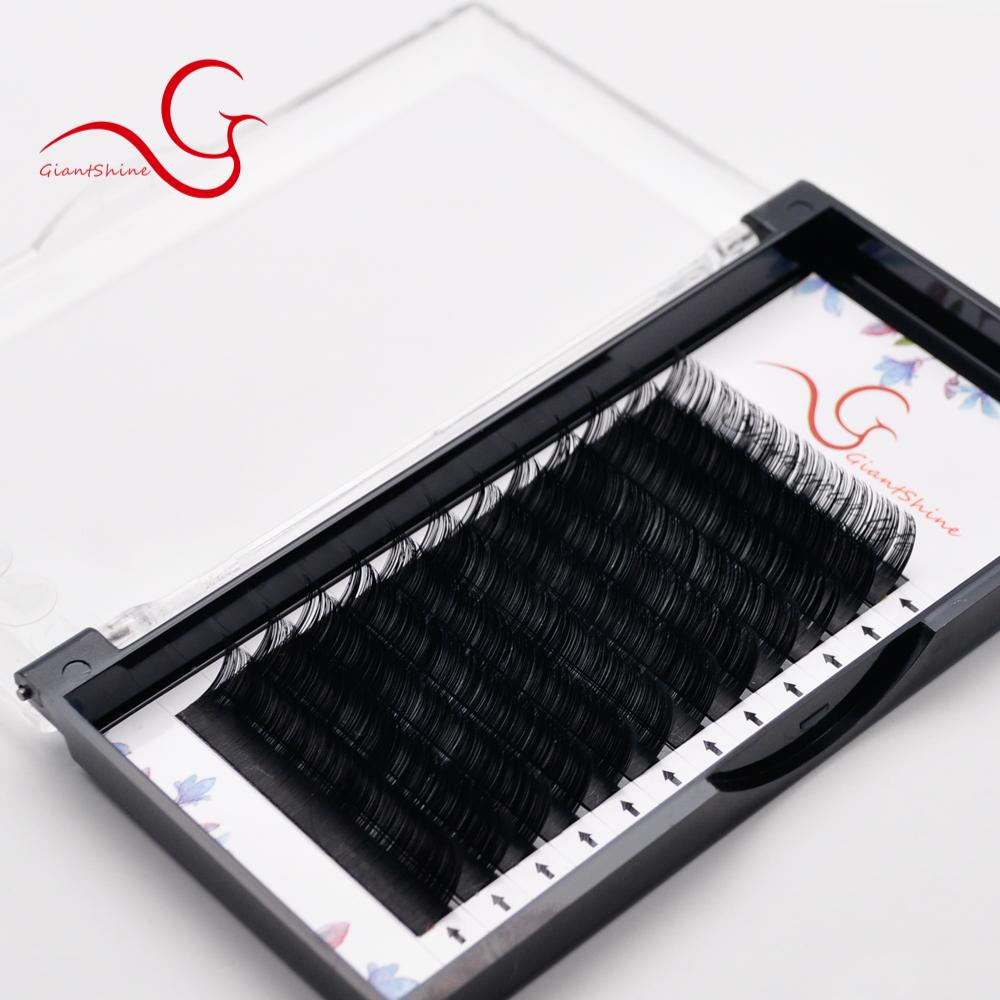 Own Brand standard silk eyelash extensions top volume korean eyelash extensions, Matte/ glossy black