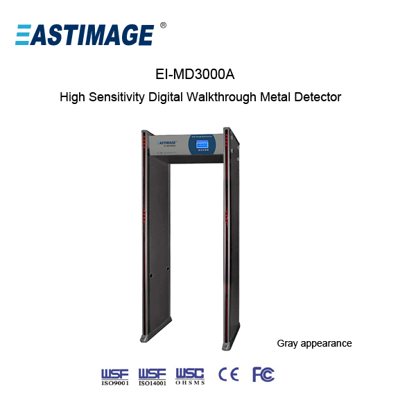 walk through metal detector with slide zoom MD3000A