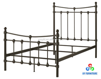 Antique Home Furniture Full Size Wrought Iron Metal Spindle Bed