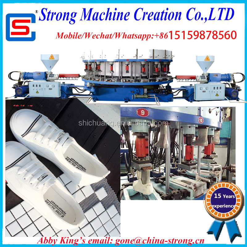 Single Color Sport Shoe Upper Lasting Sole Pvc Dip Injection Machine,OutSole Injection Disa Moulding Machine,PVC shoe machine