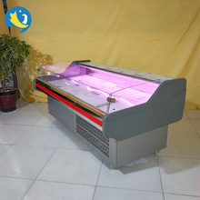 New Style color and size customized display meat freezers used in supermarket
