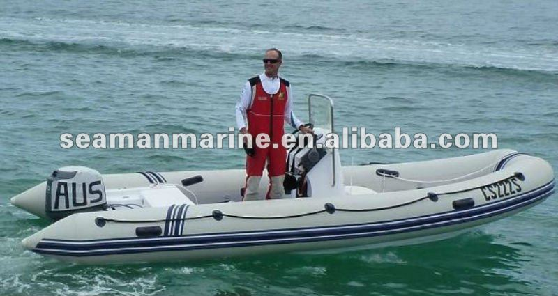 5.4M CE approved motor yacht rib inflatable boat